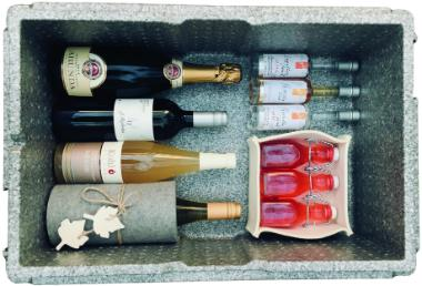 Getränke und alpine Weine