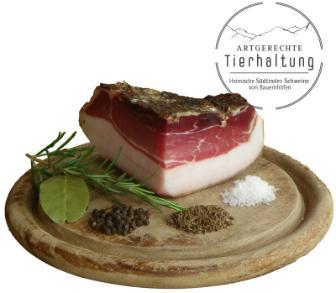 Südtiroler Bauern Speck vom Südtiroler Schwein