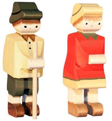 Trauffer Heidi & Peter 2-teilig Spielfiguren