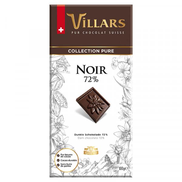 Villars Zartbitterschokolade - Dark 72% Schweizer Schokolade