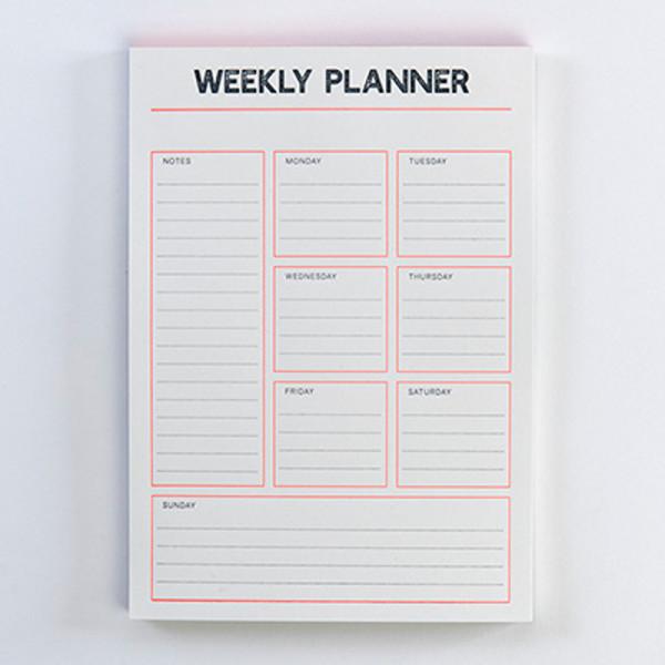 Gmund Letterpress Weekly Planner - Wochenplaner