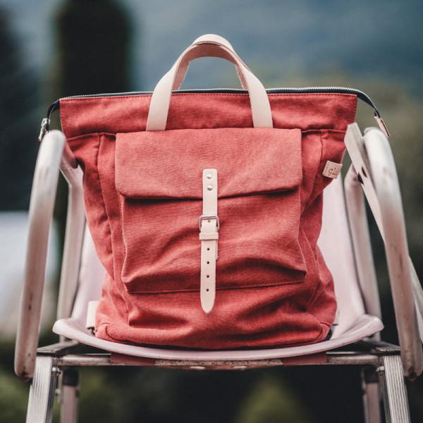 Rucksack Falk red - Tasche glücklich