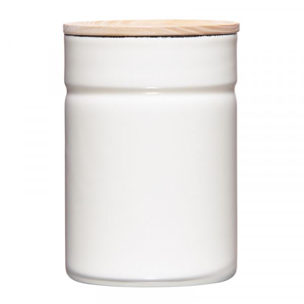 Riess Vorratsdose mit Holzdeckel - Aufbewahrung 8 cm rund
