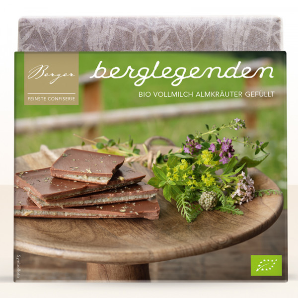 Schokolade Vollmilch Almkräuter Berger Berglegenden