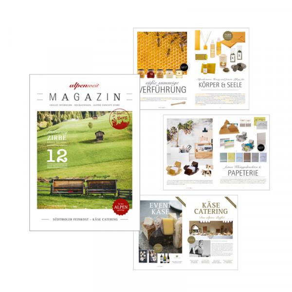alpenweit Kundenmagazin Geschenke & Präsente
