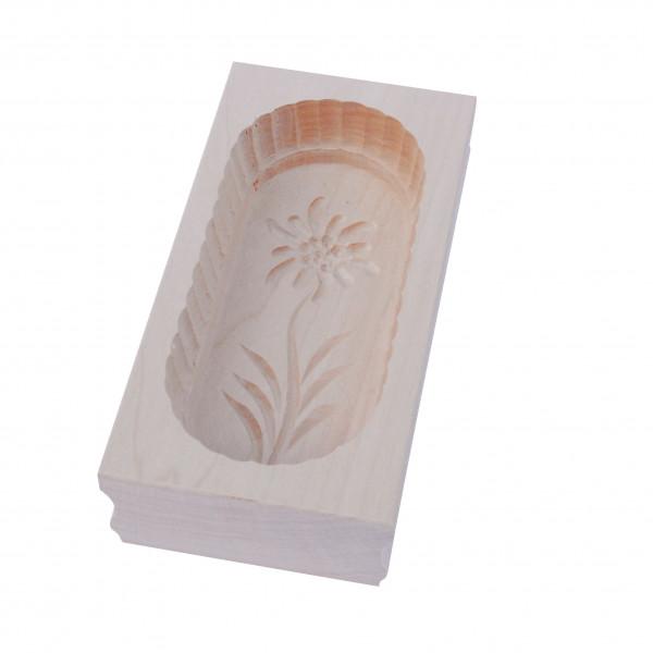 Buttermodel - Holzmodel mit Edelweissmotiv