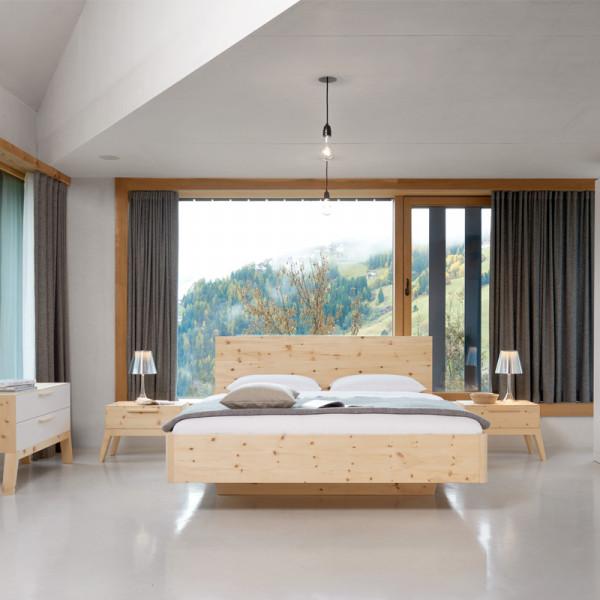 Gardena Bett aus Zirbenholz - Zirbenholzbett