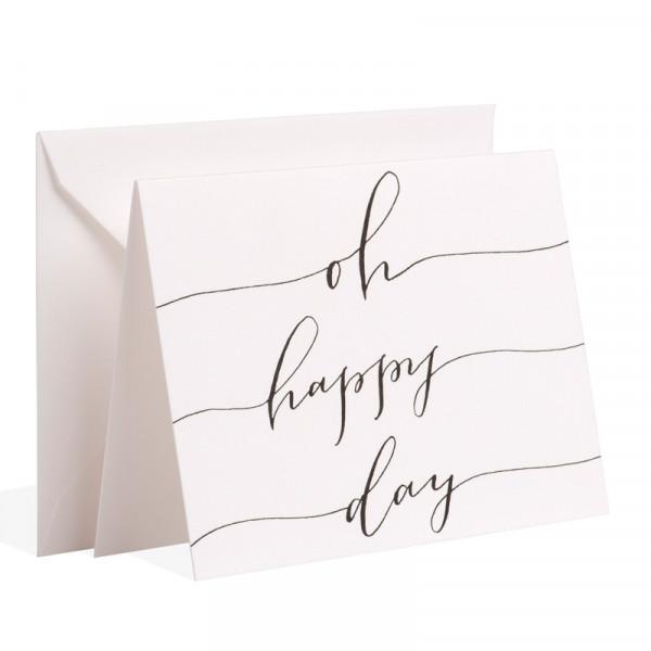 """Gmund Papier """"oh happy day"""" Handlettering - mit Briefhülle"""