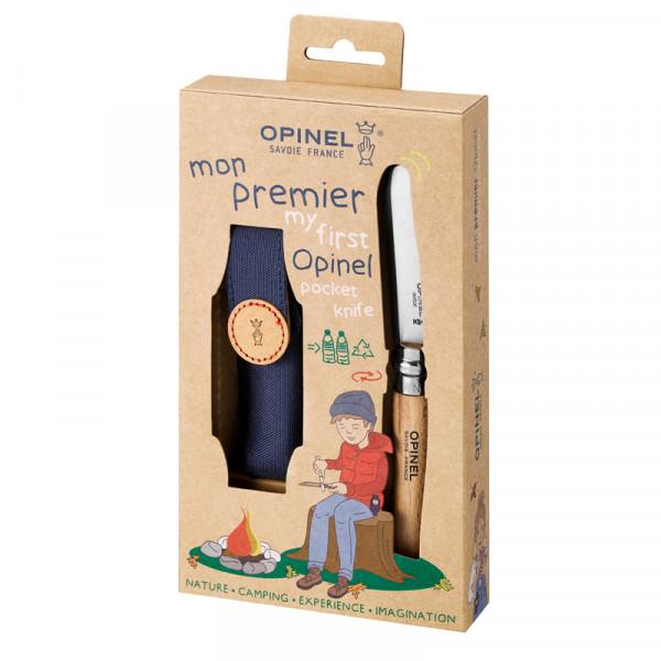 Opinel Kindermesser No 7 Geschenkset mit Gürteltasche-Etui