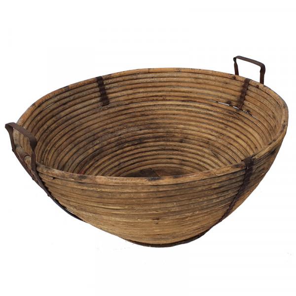 Bauernschale Holzschale Getreidekorb - alt und gebraucht