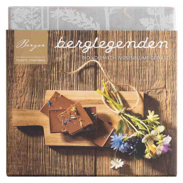 Schokolade Wiesenblumen Berger Berglegenden