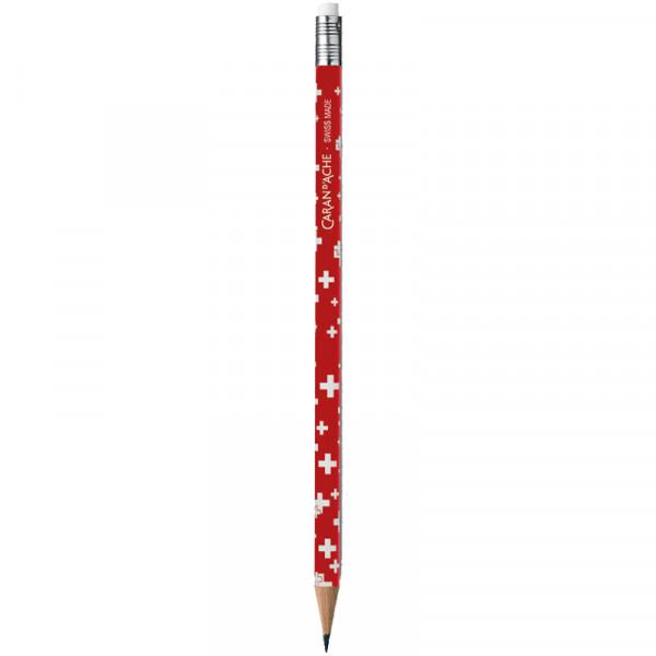 Bleistift Totally Swiss-Design Schweizer Kreuz Caran D Ache
