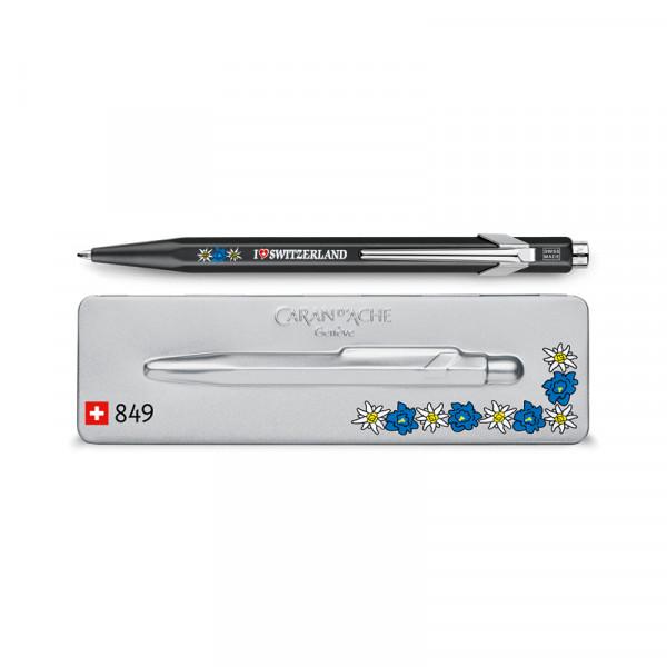 Edelweiss Kugelschreiber mit Etui - Swiss Made