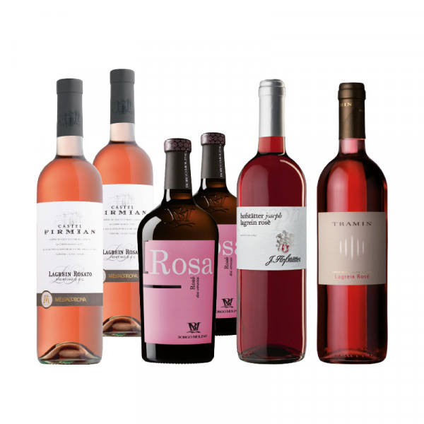 6 Flaschen Rosewein - Bergweine